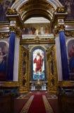 Binnen St Isaac Kathedraal of St Isaac Kathedraalmuseum in St. Petersburg stock foto's