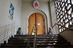 Binnen St. Maria im Kapitol-kerk, Keulen, Duitsland Royalty-vrije Stock Foto's