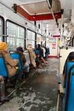 Binnen tram. Stock Afbeeldingen