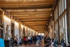 Binnen Uffizi in Florence stock foto
