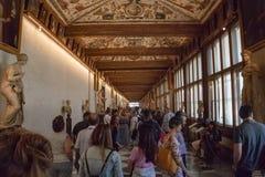 Binnen Uffizi in Florence stock fotografie