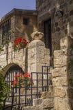 Binnen van Benedictineklooster in Abu Ghosh (Emmaus), Israël Royalty-vrije Stock Foto's