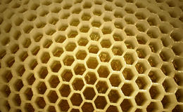 Binnen van bijenstal stock foto