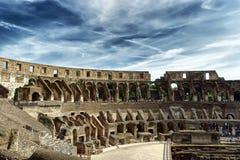 Binnen van Colosseum Stock Foto's