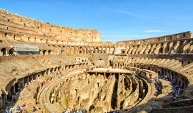 Binnen van Colosseum (Coliseum) in Rome, Italië royalty-vrije stock foto