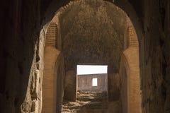 Binnen van Colosseum Een beroemde gladiatorarena Stock Foto's