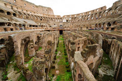 Binnen van Colosseum in Rome Royalty-vrije Stock Afbeeldingen