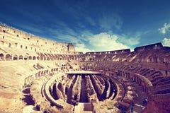 Binnen van Colosseum in Rome Stock Afbeeldingen