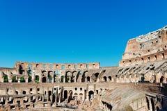 Binnen van Colosseum in Rome Stock Foto's