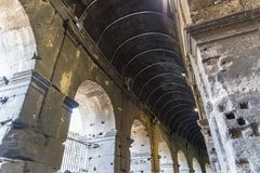 Binnen van Colosseum in Rome, Italië royalty-vrije stock afbeeldingen
