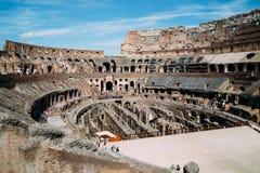 Binnen van Colosseum in Rome, Italië royalty-vrije stock foto's