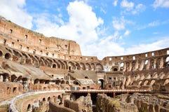 Binnen van Colosseum, Rome, Italië Stock Afbeeldingen