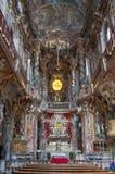 Binnen van de Asamkirche-Kerk, München Stock Afbeelding