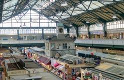 Binnen van de Centrale Markt B van Cardiff royalty-vrije stock afbeeldingen