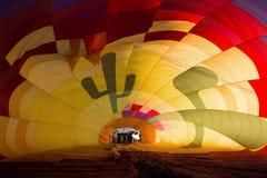 Binnen van de de Hete Luchtballon van Albuquerque het Festivalfiesta Stock Foto