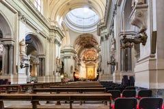 Binnen van de Kathedraal van Palermo Royalty-vrije Stock Foto