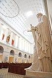 Binnen van de Kerk van Onze Dame, de kathedraal van Kopenhagen, Denemarken royalty-vrije stock afbeelding