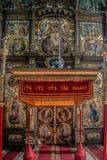 Binnen van de Servische Orthodoxe Kerk in Kikinda, Servië Royalty-vrije Stock Fotografie