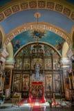 Binnen van de Servische Orthodoxe Kerk in Kikinda, Servië Stock Afbeeldingen
