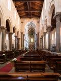 Binnen van Duomo Di Cefalu in Sicilië Royalty-vrije Stock Fotografie