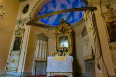 Binnen van een Armeense kerk royalty-vrije stock foto's