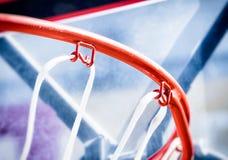 Binnen van een basketbal Royalty-vrije Stock Foto's