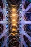 Binnen van een kathedraal in San Francisco stock foto