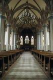Binnen van een kerk Stock Foto
