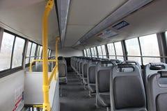 Binnen van een lege bus Royalty-vrije Stock Fotografie