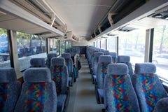 Binnen van een reisbus Royalty-vrije Stock Foto's