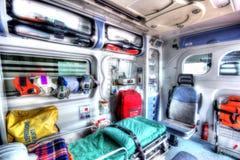 Binnen van een ziekenwagen in HDR Royalty-vrije Stock Afbeeldingen