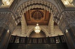 Binnen van Hassan II Moskee, Casablanca Royalty-vrije Stock Foto's