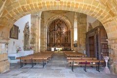 Binnen van kerk van Ciguenza in Cantabrië royalty-vrije stock fotografie