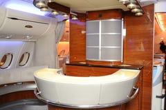 Binnen van luchtbus A380 Stock Fotografie