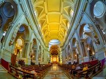 Binnen van Metropolitaanse Kathedraal van de stad van Palermo stock foto