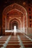 Binnen van Moskee in complex Taj Mahal, Agra, India royalty-vrije stock foto