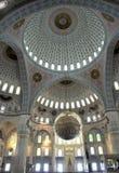Binnen van Moskee Kocatepe in Ankara Turkije Stock Fotografie