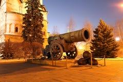 Binnen van Moskou het Kremlin bij nacht, Rusland De Plaats van de Erfenis van de Wereld van Unesco Royalty-vrije Stock Foto