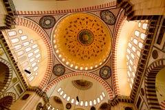 Binnen van MoslimMoskee - Istanboel royalty-vrije stock foto's