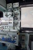 Binnen van oorlogsschip Stock Foto