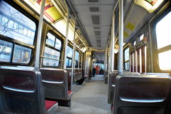 Binnen van openbaar vervoer Stock Fotografie