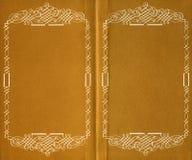 Binnen van oud boek Stock Foto's