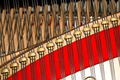 Binnen van piano Royalty-vrije Stock Afbeeldingen