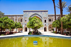 Binnen van School Khan in Shiraz Stock Afbeelding