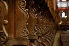Binnen van Slechte Doberaner MÃ ¼ nster (Kathedraal) Royalty-vrije Stock Foto's