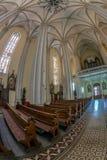 Binnen van St Mary Cathedral, Novi Sad, Servië Royalty-vrije Stock Afbeeldingen