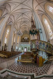 Binnen van St Mary Cathedral, Novi Sad, Servië Stock Afbeelding