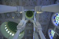 Binnen van Sultan Ahmad Shah 1 Moskee in Kuantan Stock Foto's