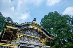 Binnen van Toshogu-Heiligdom in Nikko Japan Stock Afbeeldingen