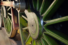 Binnen van treinenmotor Stock Fotografie